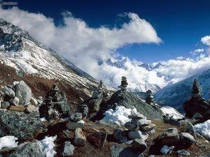 Khumbu Valley Himalaya Mountains Nepal Image